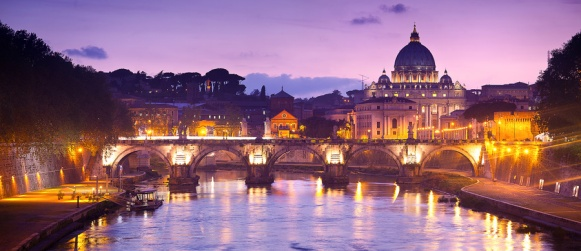 St Pauls Rome Vatican River Sunset Tiber